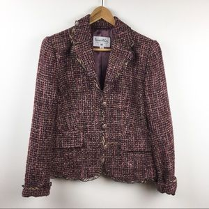 Pamela McCoy Collections Blazer Jacket Tweed